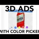 Color Picking in Interactive 3D Banner Ads – Google Swirl