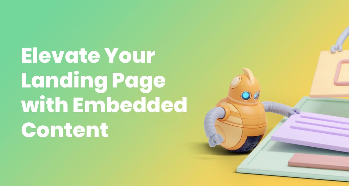 Elevate Your Landing Page with Embedded Interactive Content with the AWeber Content URL