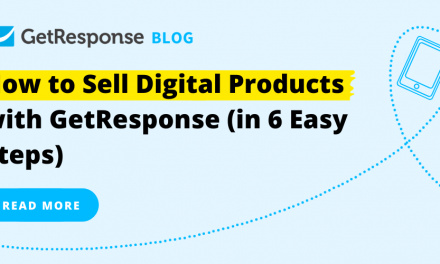 How to Sell Digital Products with GetResponse (in 6 Easy Steps)