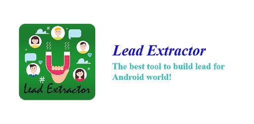 Lead Extractor app helps you build lead easily from phone : mobilemarketing