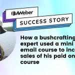 Customer uses email course to increase sales of online course